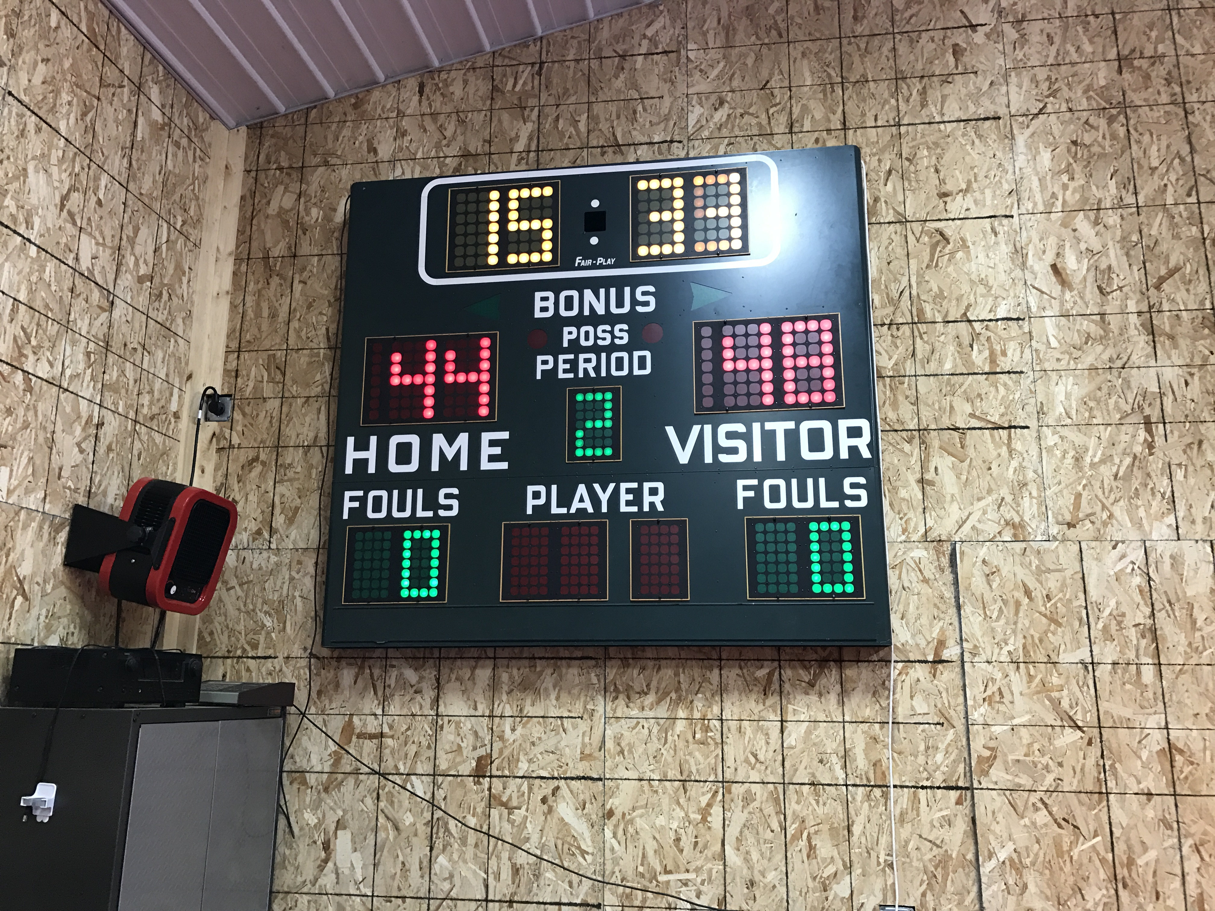 Fairplay basketball scoreboard